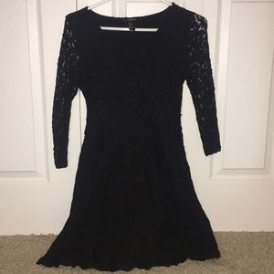 Black, lace dress